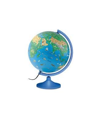Bola del mundo con soporte y luz