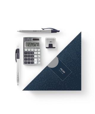 Caja regalo triangular Silver azul