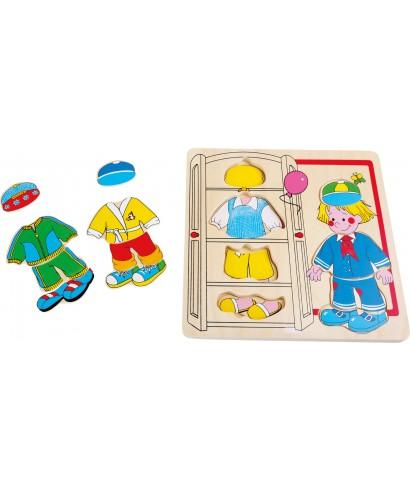 Puzzle para vestir chico