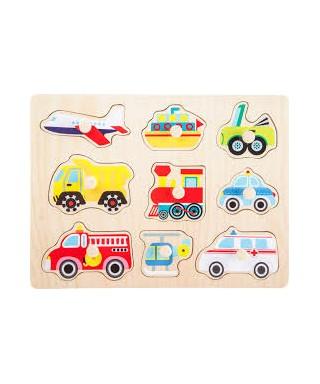 Puzzle para encajar vehiculos