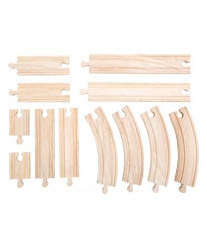 Set de vias, 12 piezas TRAINible