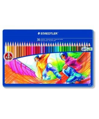 Caja metálica de 36 lápices de colores N