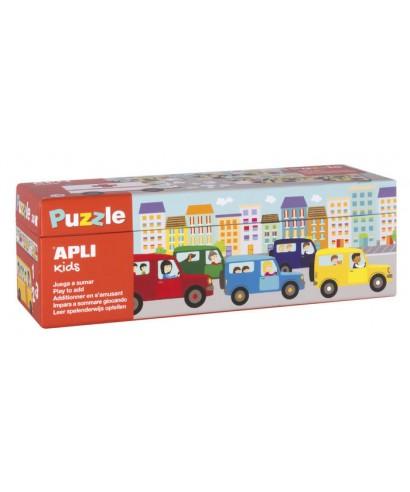 Puzzle sumas transporte APLI KIDS