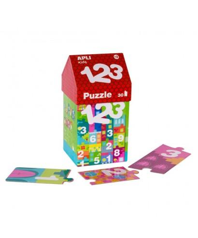 Caja puzzle casita 123 APLI