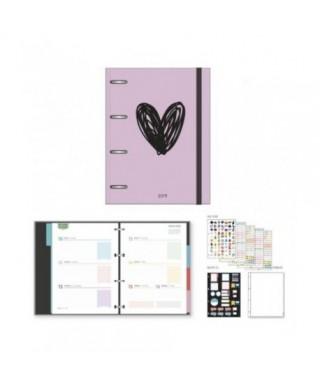 Agenda iki c/anillas S/V 153x210 Pink