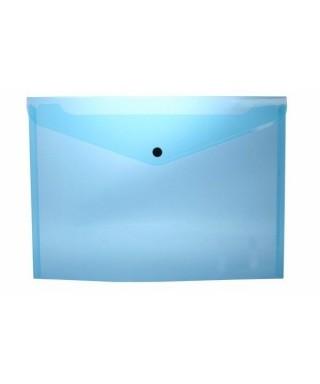Sobre polipropileno azul tamaño folio