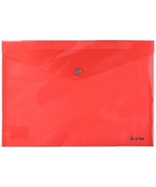 Sobre polipropileno rojo tamaño folio