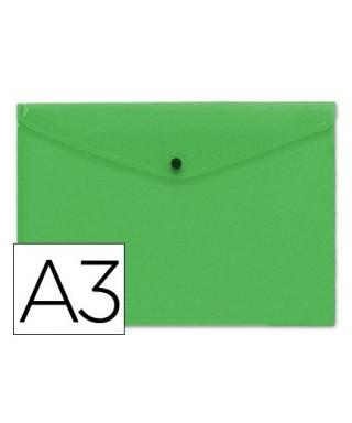 Sobre polipropileno verde tamaño A3