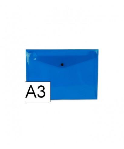 Sobre polipropileno azul tamaño A3