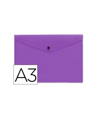 Sobre polipropileno violeta tamaño A3