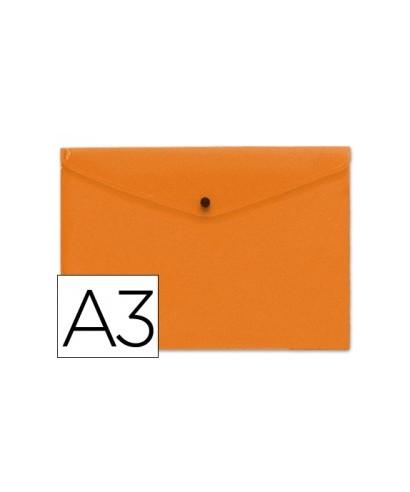Sobre polipropileno naranja tamaño A3