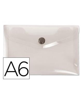 Sobre polipropileno transparente tamaño A6
