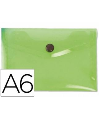 Sobre polipropileno verde tamaño A6