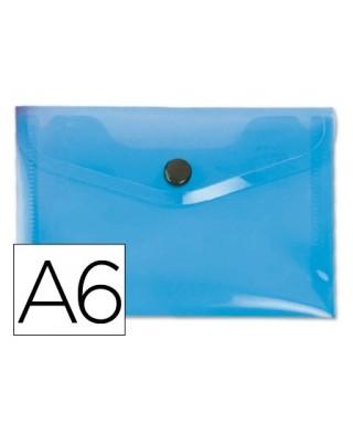 Sobre polipropileno azul tamaño A6