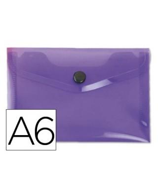 Sobre polipropileno violeta tamaño A6
