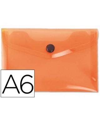 Sobre polipropileno naranja tamaño A6