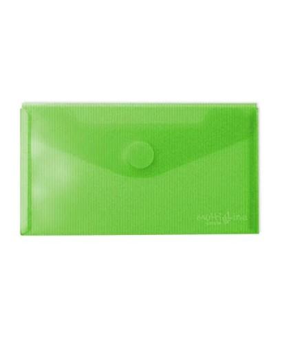 Sobre polipropileno verde tamaño recibo