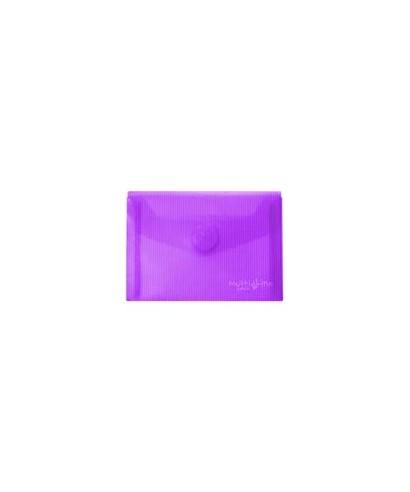sobre velcro tarjeta violeta
