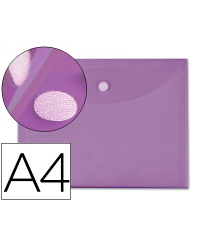 Sobre velcro A4 violeta grafoplas