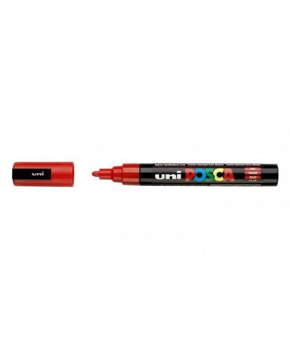 Rotulador PC 5M rojo- UNIPOSCA -