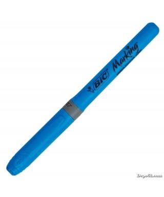 Marcador fluorescente brite liner azul-