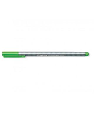 Rotulador triplus fineliner verde fluor