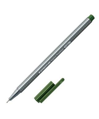Rotulador triplus fineliner verde 55 sta