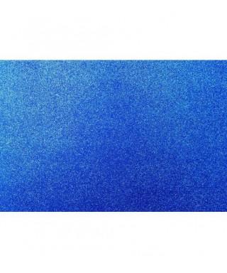 Hoja goma eva con purpurina 40x60 azul