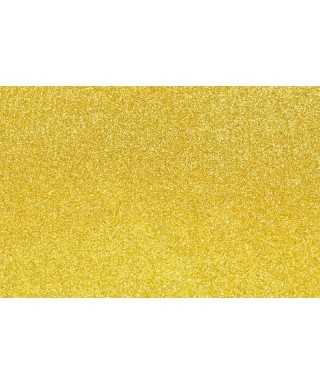 Hoja goma eva con purpurina 40x60 oro