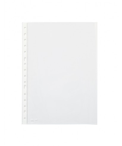 Caja de 100 fundas multitaladro A4 transparentes. PARDO