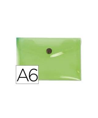 Sobre broche pp A6 verde