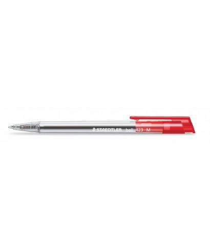 Bolígrafo ball retráctil rojo 423 M- STA