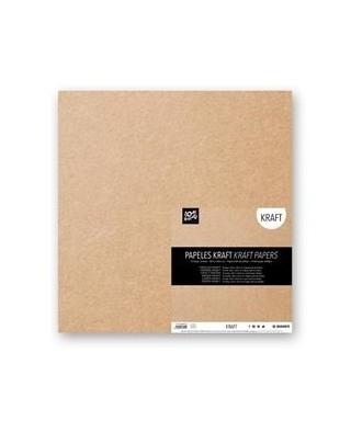 12 cartulinas Kraft 30,5x30,5 cm