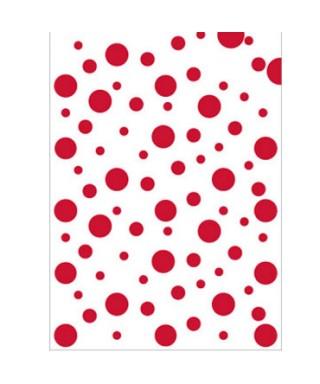 Bolsa disfraz topos rojos