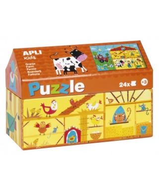 Puzzle 24 piezas , granja APLI KIDS