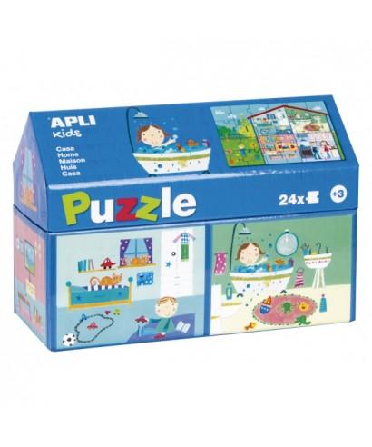 Puzzle 24 piezas casa APLI KIDS