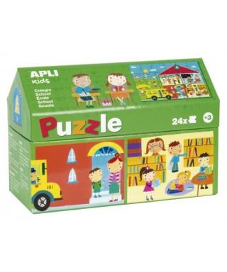 Puzzle colegio 24 piezas APLI KIDS