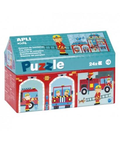 Puzzle 24 piezas estación de bomberos APLI KIDS