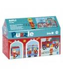 Puzzle estación de bomberos 24 piezas APLI KIDS