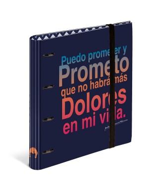 Archivador 4 anillas A4 anillas con recambio Dolores Promesa