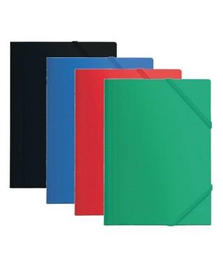 Carpeta pp A4 con gomas y solapas verde