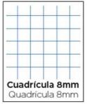 Libreta 4º 32h. Cuadricula 8x8mm