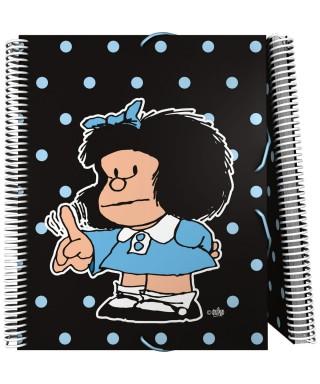 Carpeta 30 fundas Mafalda Lunares