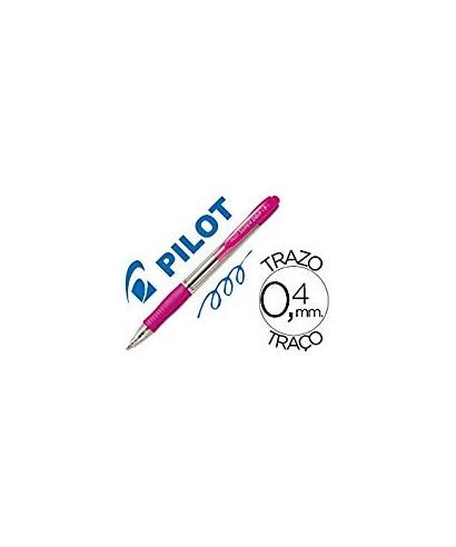 Bolígrafo tinta azul Supergrip rosa- PILOT
