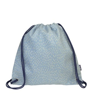 Bolsa saco infantil Berrywood azul. MILAN
