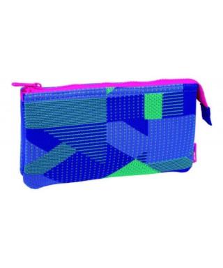 Portatodo 2 compartimentos Knit Purple