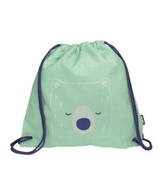 Bolsa saco infantil Berrywood verde. MILAN