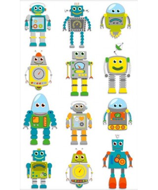 pegatinas robots