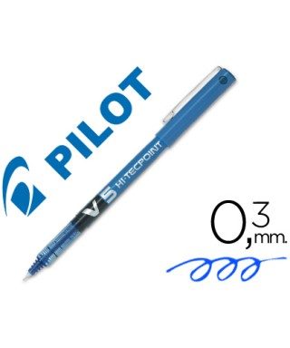 V5 bolígrafo azul pilot