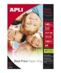 Pack 100h papel fotográfico A4 140gr APLI